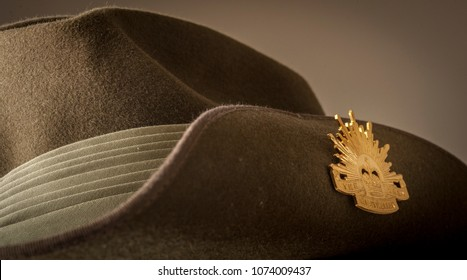 Australian Infantry Slouch hat worn by Australian Army soldiers throughout history.