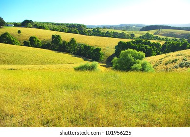 Australian landscape with in country victoria australia