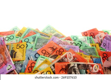 Australian Money - Aussie currency border along bottom of page