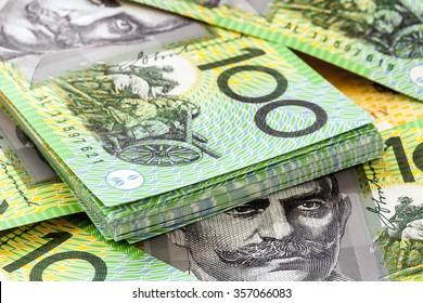 Australian one hundred dollar bills.