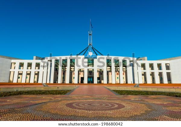 Australian Parliament House Canberra Stock Photo (Edit Now