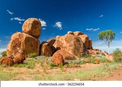 Australian red rocks