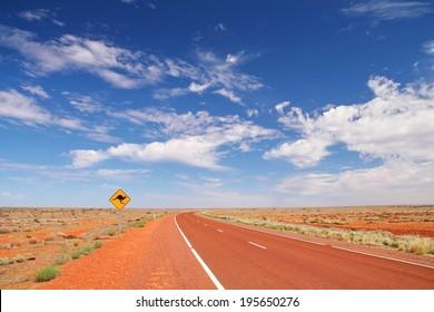 Australian road in the desert