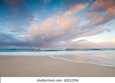 australian seascape at twilight (broadbeach,gold coast,queensland,australia)