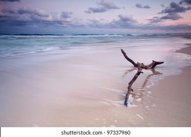 australian seascape at twilight (main beach, qld, australia)
