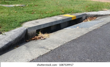 Australian Suburban Stormwater Drains in Residential Area
