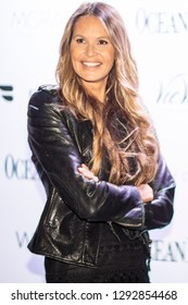 Australian super model Elle Macpherson poses during the red carpet for her cover of Ocean Drive's January issue, at The Sacred Space in Miami, Florida on  Fuebruary 22nd, 2019