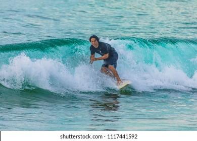 Australian Surfer riding a wave in Sydney