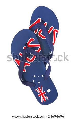 3bb443627 Australian Thongs Flipflops Isolated On White Stock Photo (Edit Now ...