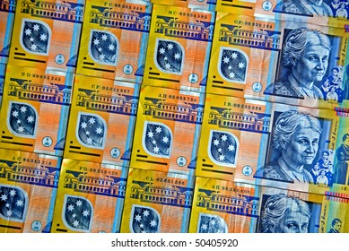 Australia's colourful plastic fifty dollar notes