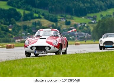 niederöblarn, austria, 11 july 2014, chopard racecar trophy, ennstal classic, competiton for vintage race cars