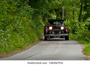 pürgg, austria, 11 july 2014, ennstal classic, competition for vintage cars
