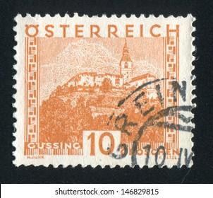AUSTRIA - CIRCA 1929: stamp printed by Austria, shows Gussing, circa 1929