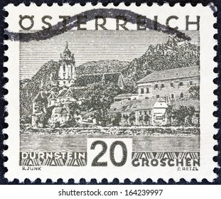 AUSTRIA - CIRCA 1929: A stamp printed in Austria shows Durnstein, circa 1929.