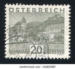 AUSTRIA - CIRCA 1930: stamp printed by Austria, shows Durnstein, circa 1930