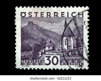 AUSTRIA - CIRCA 1931: A stamp printed in Austria shows Seewiesen, circa 1931
