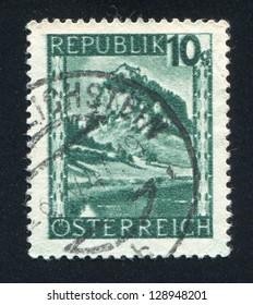 AUSTRIA - CIRCA 1945: stamp printed by Austria, shows Hochosterwitz, Carinthia, circa 1945
