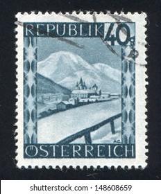 AUSTRIA - CIRCA 1945: stamp printed by Austria, shows Mariazell, Styria, circa 1945