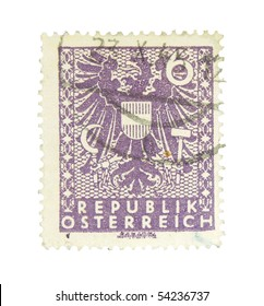 AUSTRIA - CIRCA 1945: A stamp printed in Austria showing national sign, circa 1945