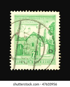 AUSTRIA - CIRCA 1964: A stamp printed in Austria showing Beethoven house circa 1964