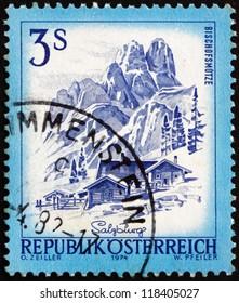 AUSTRIA - CIRCA 1974: a stamp printed in the Austria shows Bishofsmutze, Salzburg, circa 1974