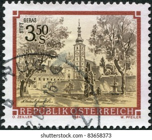 AUSTRIA - CIRCA 1984: A stamp printed in Austria, is shown Geras Abbey (Stift Geras), circa 1984