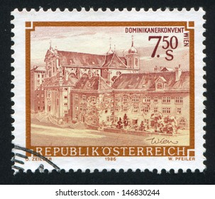 AUSTRIA - CIRCA 1986: stamp printed by Austria, shows Dominican convent in Vienna, circa 1986
