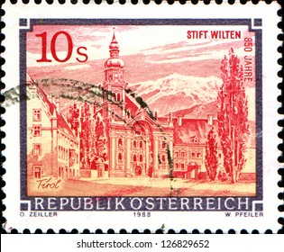 "AUSTRIA - CIRCA 1988: A stamp printed in Austria shows  Abbey of  from the series ""Monasteries and Abbeys in Austria"", circa 1988"