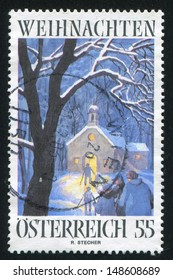 AUSTRIA - CIRCA 2006: stamp printed by Austria, shows Christkindl Pilgrimage Church by Bishop Reinhold Stecher, circa 2006