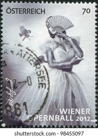 AUSTRIA - CIRCA 2012: A stamp printed in Austria, devoted to the Vienna Opera Ball, circa 2012