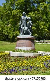 Austria, Lower Austria, Baden, lanner-strauss memorial in the spa garden