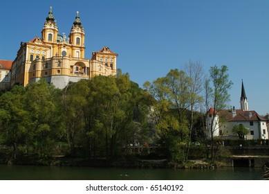 Austria, Melk Abbey in Danube Valley