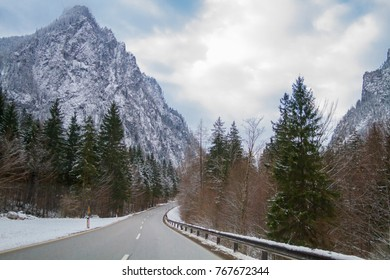 Austria. Mountain, road, in a natural park Gezoyze