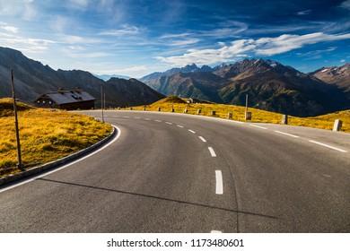 Austria, National Park Hohe Tauern, Salzburgerland, Grossglockner High Alpine Road. Autumn Austria