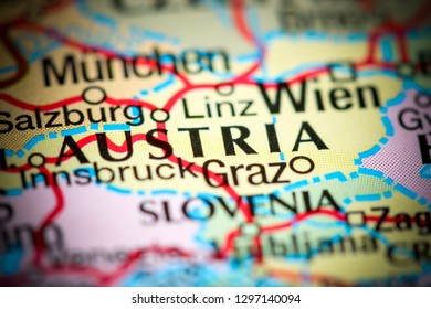 Austria on a map