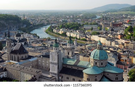 Austria. Salzburg. View of the neighborhood from the fortress of Hohensalzburg.