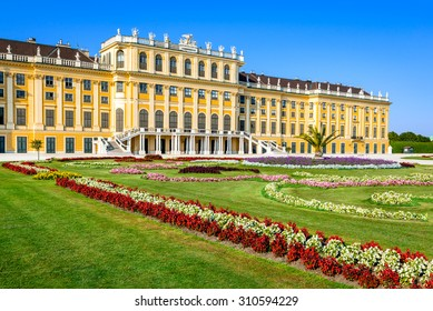 Austria. Schonbrunn Palace in Vienna. It's a former imperial 1,441-room Rococo summer residence in modern Wien