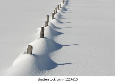 Austria - snowy fence