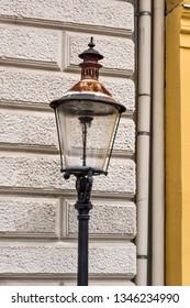Austria, Vienna, near Bezirksmuseum Hietzing: View of famous last gas lamp in front of an house facade in the Austrian capital - concept light lighting illumination vintage museum street technology - Shutterstock ID 1346234990