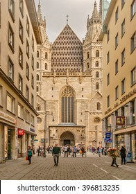 Austria, Vienna - September 5, 2014: St. Stephen's Cathedral in Vienna - Catholic cathedral, a national symbol of Austria and symbol of the city of Vienna.