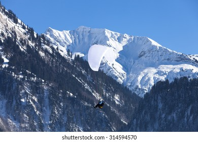Austrian Alps, mountain range covered in the snow, winter