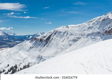 Austrian Alps near Kitzbuehel in winter