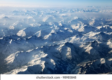 Austrian alps seen from the plane