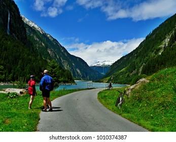 Austrian Alps-outlook on the damm Stillupspeicher