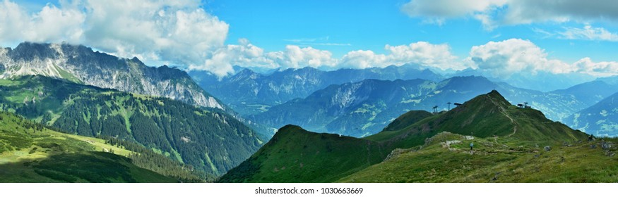 Austrian Alps-panoramic view on the Golmer Joch