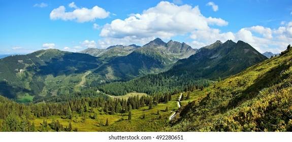 Austrian Alps-panoramic view from Planai