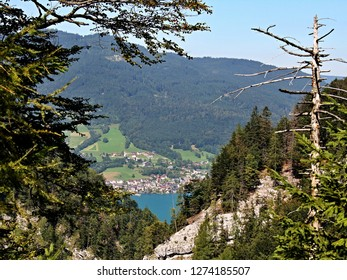 Austrian Alps--view of the lake Wolfgangsee