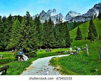 Austrian Alps-view on the Gosau ridge
