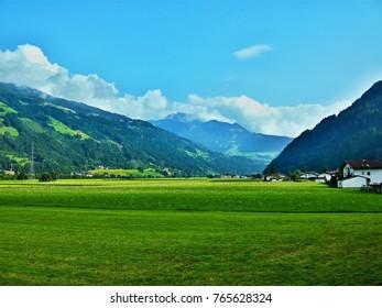 Austrian Alps-view from the village Aschau im Zillertal