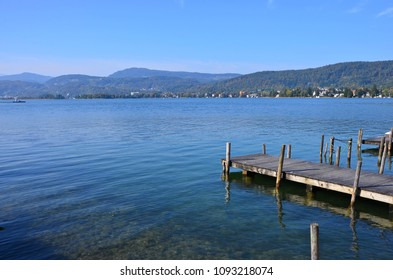 Austrian lake Woerthersee in the Alps